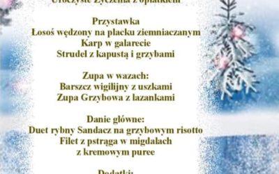 Zapraszamy na tradycyjną Kolację Wigilijna w naszej restauracji Zakopiańskie Smaki na godzinę 16:00
